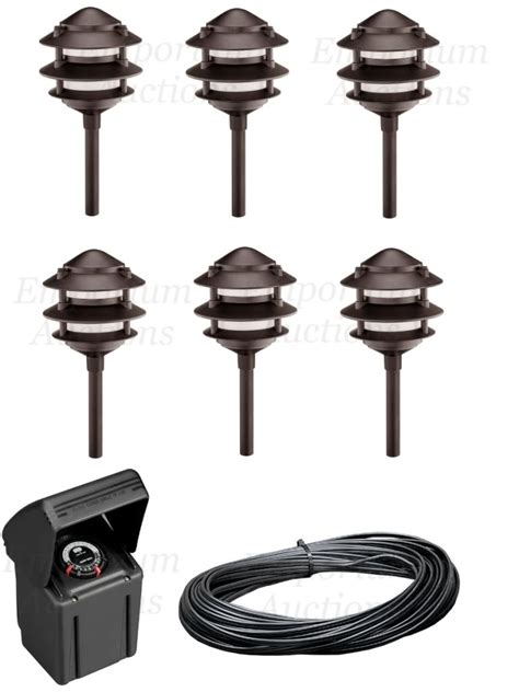 malibu landscape bronze path light set kit low voltage