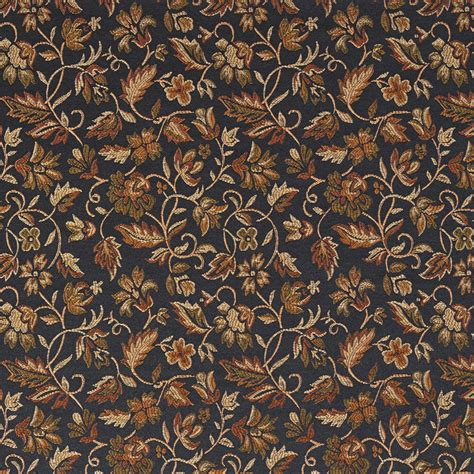 upholstery fabric by the yard e620 floral black gold green damask upholstery and drapery