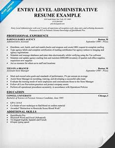 entry level administrative assistant resume sample best With entry level healthcare administration resume