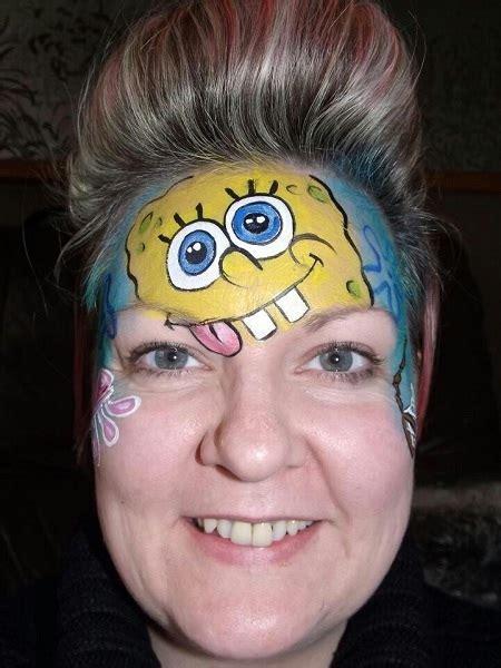 spongebob makeup  face paint  pink lover