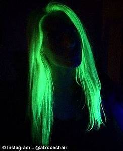 New Instagram craze sees hair GLOW in the dark with neon