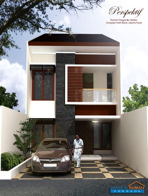 desain rumah minimalis lebar  meter desain rumah