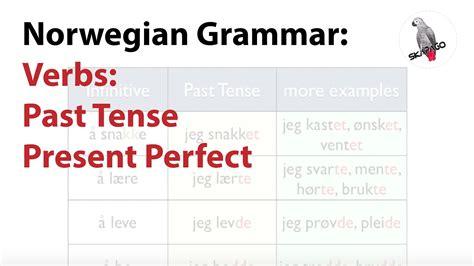 norwegian verbs  tense present perfect youtube