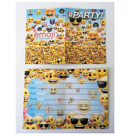 stickers porte de cuisine cartes emoji pour inviter les amis