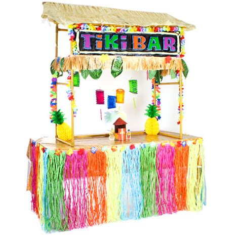 Tiki Bar Products by Hawaiian Tiki Hut Bar Complete Deluxe Decoration Kit