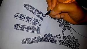 Arabic floral henna - easy mehndi design on paper - how to ...
