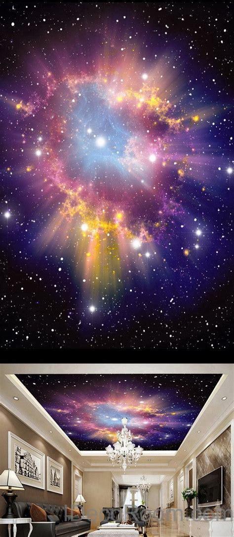 earth star moon sun universe ceiling wall mural wall