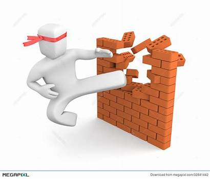 Barriers Clipart Breaking Action Separated Brick Barreras