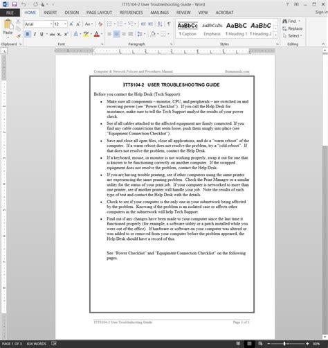 help desk training manual template desk manual format