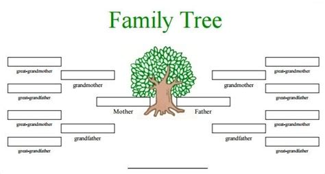 printable family tree maker  family tree template
