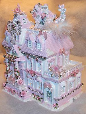 lighted house pink shabby chic lighted house
