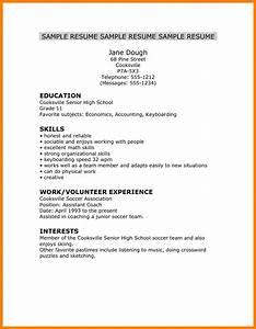 6 high school resume skills