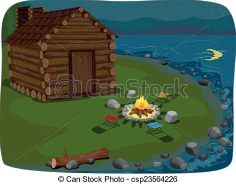 small house plans with porch vector illustration of lakeside cabin illustration