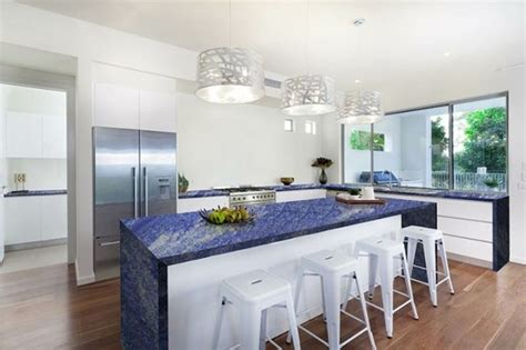 blue granite kitchen designs blue marble countertops a great and striking 4812