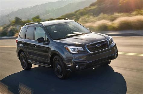 subaru forester black edition announced