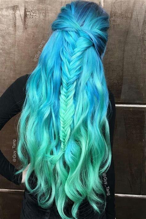 Best 25 Blue Hair Highlights Ideas On Pinterest Brown