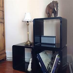 Cube De Rangement : cube de rangement kubic noir empilable meuble de rangement ~ Farleysfitness.com Idées de Décoration