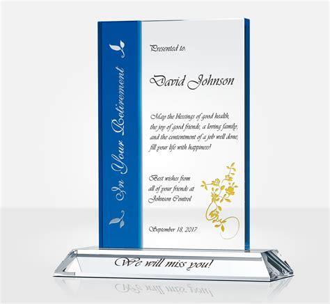 rectangle retirement plaque diy awards
