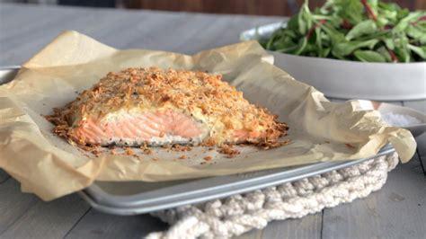 recette de cuisine saumon saumon en croûte fromagée cuisine futée parents pressés