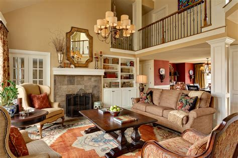 Houzz Living Rooms Traditional by Residential Interiors Kansas City Traditional Living