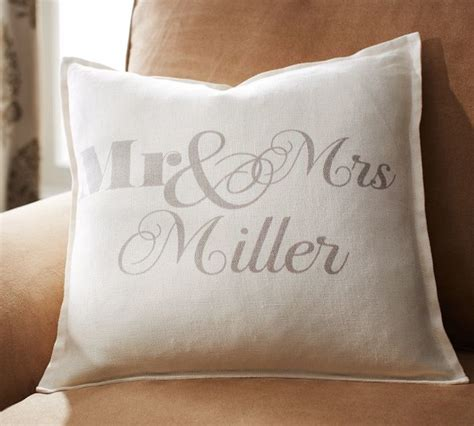 mr and mrs pillows mr mrs personalized pillow cover contemporary