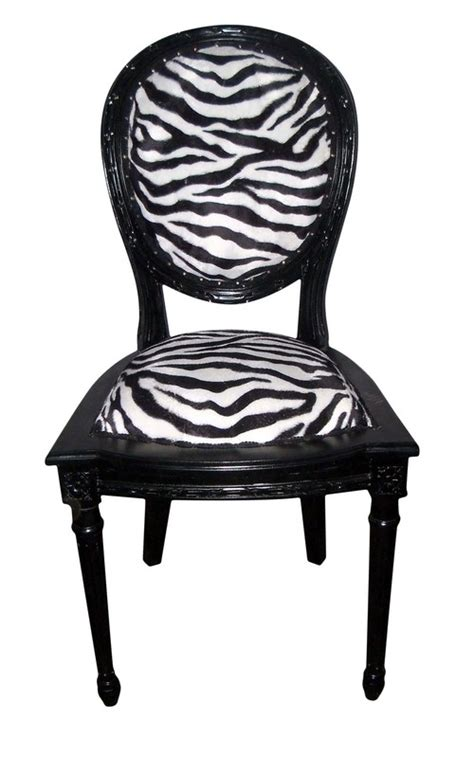 chaise zebre chaise baroque zebre