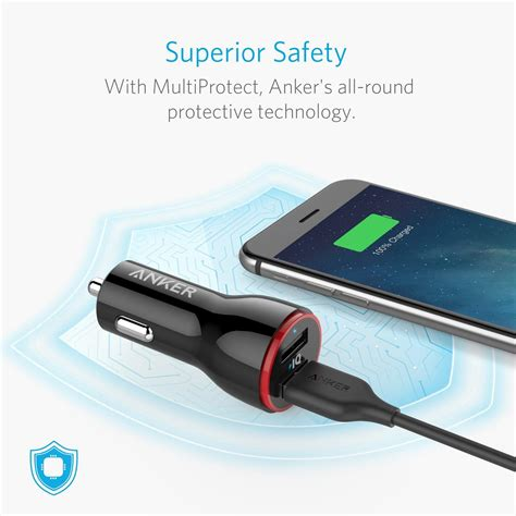 Anker Dual Car Charger by Anker 24w Dual Usb Car Charger Powerdrive 2 For Iphone Xs