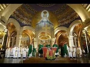 LOURDES Messe des Evêques à la basilique du Rosaire YouTube