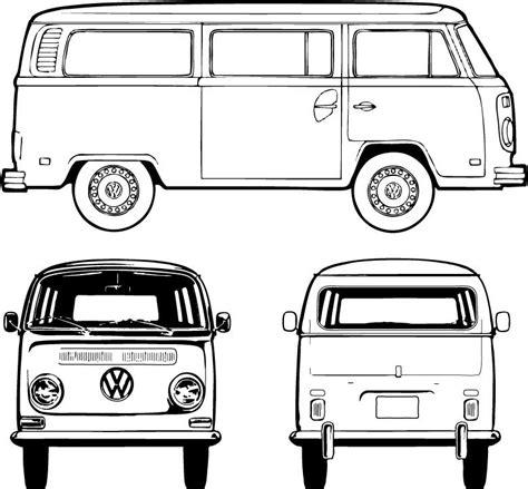 volkswagen bus drawing blank bus for artwork vw bus pinterest buses