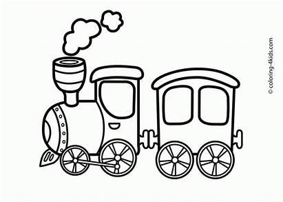 Coloring Clipart Trains Train Toy Transportation Clip