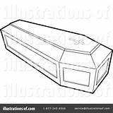 Coffin Clipart Coloring Illustration Casket Template Perera Lal Royalty Sketch Rf sketch template