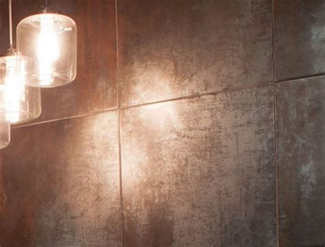 copper backsplash tiles metallic porcelain tiles cle tile