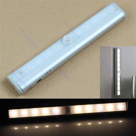 10 led ir infrared motion detector wireless sensor closet