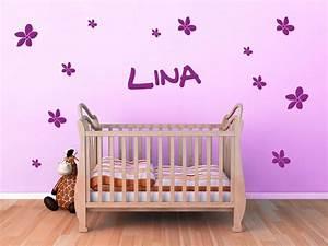Wandtattoo Für Babyzimmer : wandtattoo bl ten mit wunschnamen f rs baby ~ Markanthonyermac.com Haus und Dekorationen