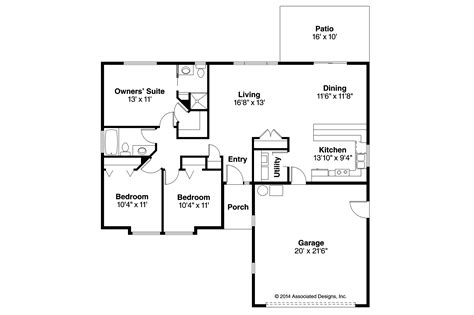 floor plans ranch house plans halsey 30 847 associated designs