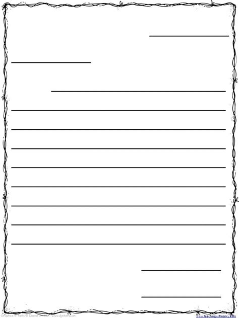 Friendly Letter Template Friendly Letter Template For 3rd Grade Theveliger