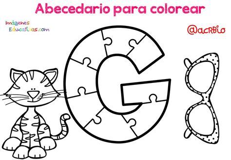 Abecedario para colorear (7) Imagenes Educativas