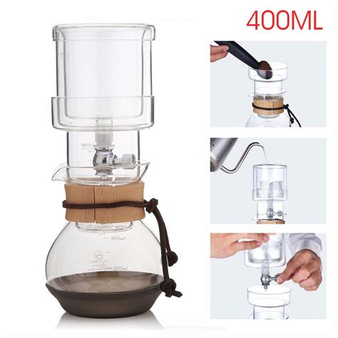 Oxo offers an extremely unique version of the cold brew coffee maker. 400ml elegant dutch cold brew water ice drip coffee maker glass pot for 2 cups coffee machine ...