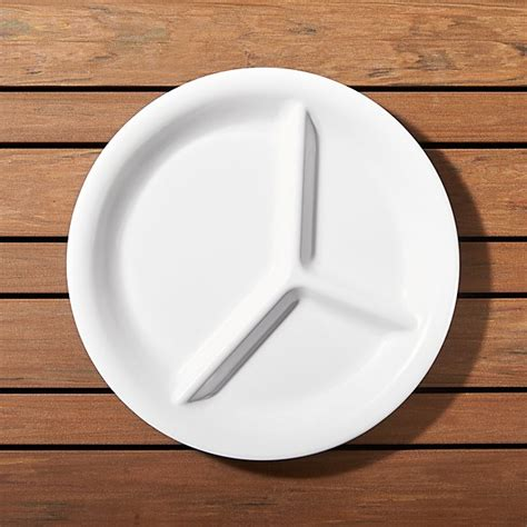 white melamine divided plate reviews crate  barrel