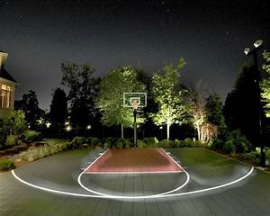 backyard basketball court ideas to help your family become With outdoor lighting for home basketball court