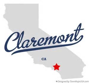 California Map Claremont CA