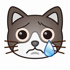 Crying Cat Face Emoji for Facebook, Email & SMS | ID ...