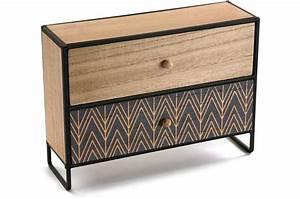 Boite À Bijoux Design : boite a bijoux en bois 2 rangements cyanite porte bijoux ~ Melissatoandfro.com Idées de Décoration