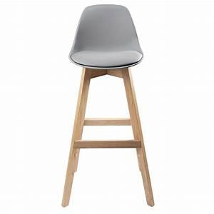 Chaise De Bar Grise : chaise de bar style scandinave grise et ch ne ice ~ Voncanada.com Idées de Décoration