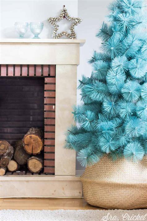 arboles de navidad en alco c 243 mo pintar un 225 rbol de navidad con spray y purpurina para cambio de look