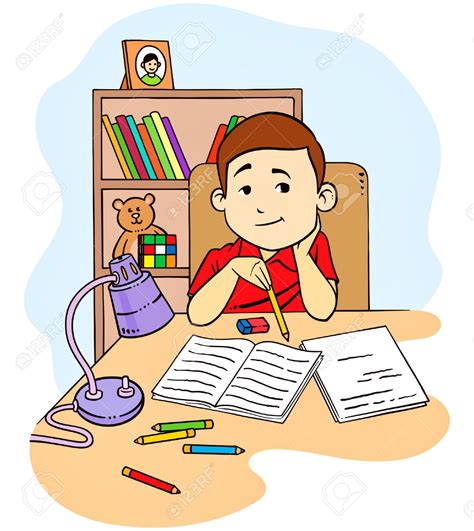 Do Home Work by Homework Clipart Children S Pencil And In Color Homework