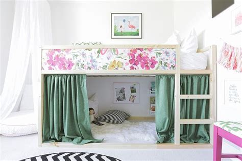 mommo design ikea hacks  kids girly kura bed kids
