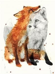 Twin Fox Tattoo Idea | Best Tattoo Designs