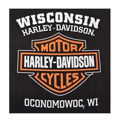 harley davidson pub harley davidson men 39 s orange bar shield black t shirt