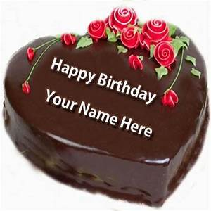 Write Nick Name on Happy Birthday Cake and Send on ...